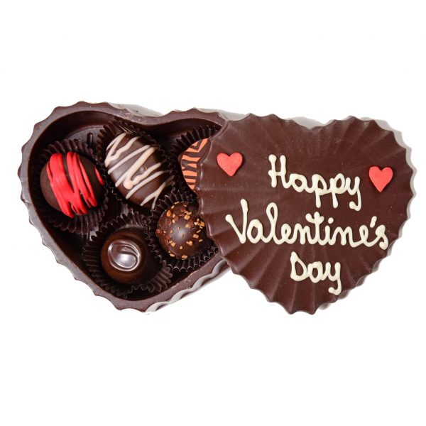 Edible Chocolate Heart Box with Truffles Medium