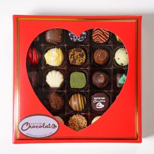 Valentine Red Truffle Box